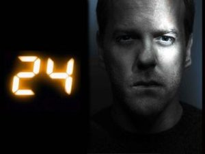 24 Starring Kieffer Sutherland as Jack Bauer